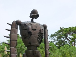 Statue of one of the robots from Castle in the Sky