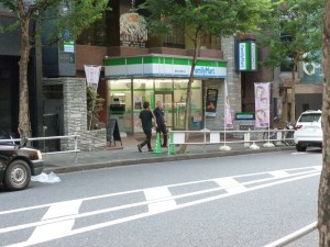 A Family Mart, just one of the many convenience stores in the are around the hotel